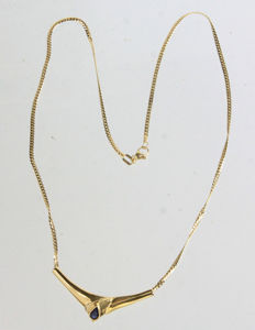 Sapphire - Necklace 333 Gold