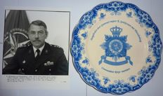 Marine Corps. Wall plate and original photo Major General Roy Spiekerman van Weezelenburg