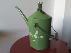 Petroleum can 3 litre green enamel