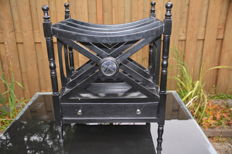 Ornamental English newspaper and magazine rack