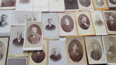 Lot of 100 visiting cards, France, end of the 19th century