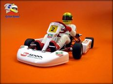 Minichamps - Ayrton Senna Collection - Scale 1/18 - Kart - Race of Champions 1993 Paris-Bercy with base and plate, in limited edition