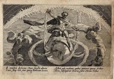 Crispijn van de Passe ( 1589-1637), Untwining of chaos and creation of the four elements, 1602-1607
