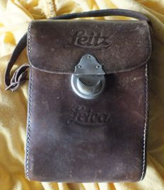 Old LEICA LEITZ camera leather bag
