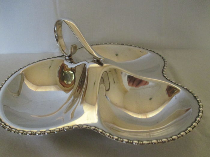 Beautiful heavily silver plated chocolate dish.