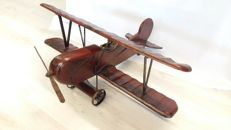 Double Decker (airplane) wood very detailed 70 cm long