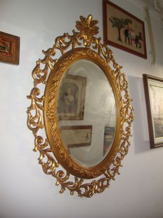 Large Gilded Mirror (96 cm), 20th century