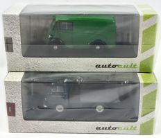 Autocult - Scale 1/43 - Morris J-type 1949  & Ford Thames 400E Lotus race team truck 1957 - limited Editions of 333 pieces