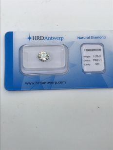 HRD stone for 1.25 ct L / VS1