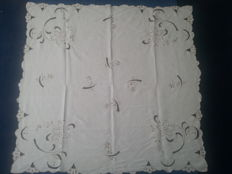Beautiful hand embroidered tablecloth.