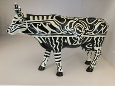Cow Parade Cowparade - Tattooed Bovine - large - Resin - retired en zeldzaam !
