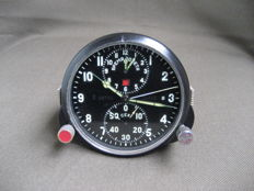 Pilot's clock - chronograph for the MiG-25 supersonic fighter jet (СССР/USSR). 20th century.