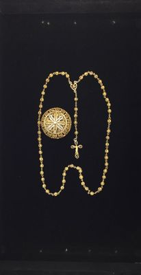 Antique Silver Gilt & Box Filigree Rosary