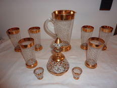 Cristallerie de Monaco – set of glasses and carafes