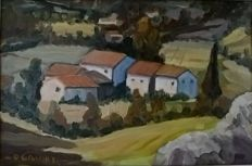 Unknown Artist, (20th century) Casolari in Autunno