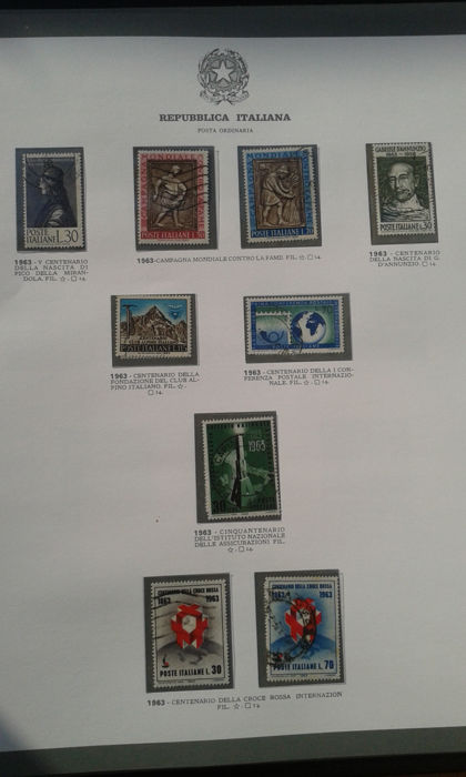 Italy, Republic, 1963/1990 – Complete collection Ordinary mail and airmail