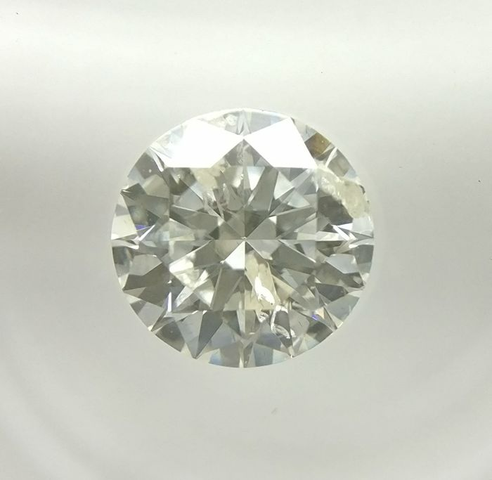 0.73 ct Round cut diamond G I1   -No Reserve