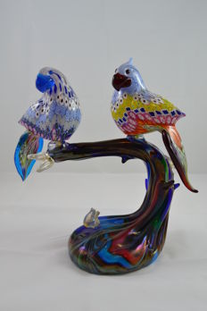 Mario Costantini - Branch with murrine birds (30 cm, 1/1)