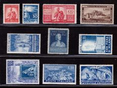Republic of Italy - selection of stamps from the first period - Sass. No.  559-563-565-599, 600-612-624-654-658-665