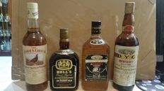 4 bottles - Bell's 20 years old Reserve - DYC 8 years - DYC Blended - Famous Grouse