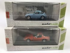 Autocult - Scale 1/43 - Bizzarrini 500 Machinetta 1952  & 1900 GT Europa 1969 - Limited Editions of 333 pieces