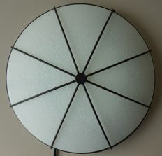Unknown designer - art deco style ceiling light in glass and metal