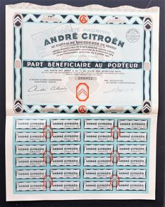 Share André Citroën - signed by André Citroën 1927
