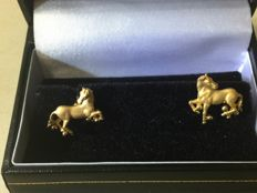 carrera y carrera - Exclusive 18 kt gold cufflinks - Measurements 17 x 14 mm (approx.)