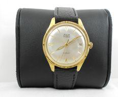 Vintage Avia Olympic Date Incabloc   Gold Plated 17  jewels Swiss Watch Cal: ETA 2408  Circa 1970