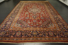 Dreamy beautiful fine Persian palace carpet Keshan best cork wool made in Iran 255 x 355 cm signed by the master weaver