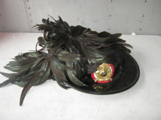 Antique Italian Bersaglieri hat Complete with feathers.