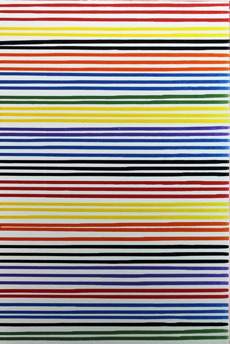 Alessandro Butera - Colored rows, white