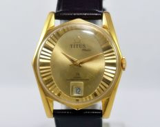 Titus Special Edition Titus-Matic 75 Years Diamond Anniversary Automatic Men's Vintage Wristwatch - circa 1960s