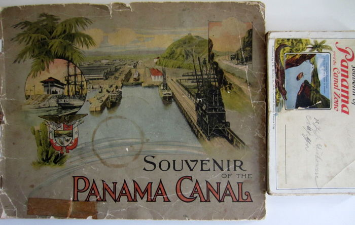 Early Panama Canal Souvenir Booklet and Postcard Set - ca. 1915
