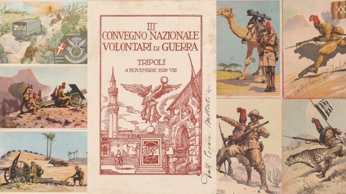 FASCISMO - Lot of 8 postcards - Illustrated Colonial (Africa)
