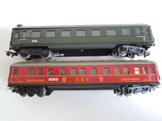 Märklin H0 - 4007.8(346/1 BS)/4010.8(346/3) - Passenger carriage 1st class with rear lights and sleeping carriage of the DSG