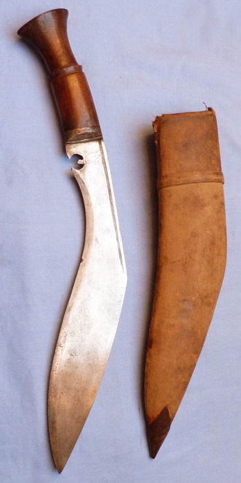 Original WW2 British Army Gurkha Regiment Kukri and Scabbard