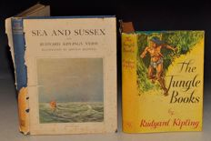 Rudyard Kipling; Lot with 11 of his books - 1912/1955