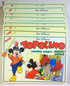 Walt Disney - Topolino - 9x albums - Sunday Pages - chronological edition [1958-1966] - sc - (1987/1989)