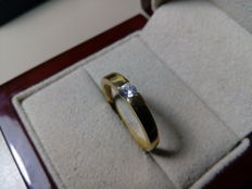Cocktail ring in 18 kt gold with Diamond measuring 3.25 mm and 0.14 ct