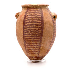 An Egyptian PreDynastic Decorated Jar- Height: 5 inches (12.7 cm)