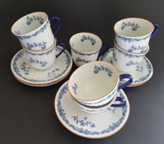 Ostindia - Rörstrand - lot of cups and saucers