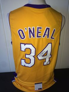 Shaquille O'Neal LA Lakers Hand Signed official NBA Jersey + COA PSA/DNA.