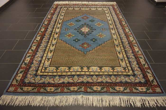 Wonderful Oriental carpet designer Berber carpet 200 x 300 cm, made in Morocco around 1970–1980, new wool