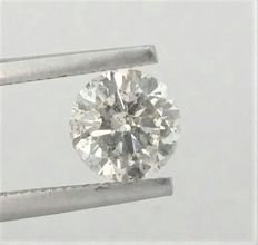 Diamond of  1.05 carat , G color , SI1 clarity , Big AIG certificate + Laser Inscription on Girdle , 3 x EX .