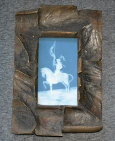 Camille Tharaud - Limoges Pate-sur-pate plaque of horseman