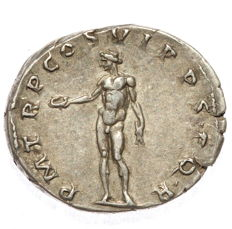 Roman Empire - Trajan AR Denarius - Genius (RIC 349)- 19mm; 3.54g - Top quality coin!