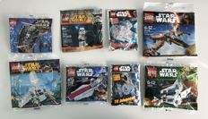Star Wars - 3219 + 30053 + 30241 + 30246 + 30278 + Stormtrooper Sergeant + Millenium Falcon Limited Edition + Tie Advanced Limited Edition - Rare Polybags