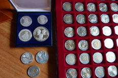 Europe - Lot of 54 various coins, including 6 silver
