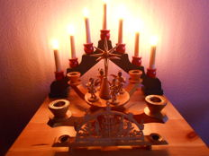 3 old Christmas -Advent candles  from Ore Mountains Advent decoration